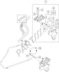 Brake caliper rear ktm 1190 adventure r abs 2015 eu
