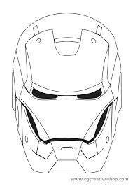 Testa Di Iron Man Da Colorare