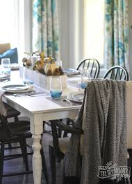 rustic woodland table setting for fall thanksgiving