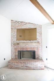 how to mortar rub brick {on a fireplace} - an aged, timeless look
