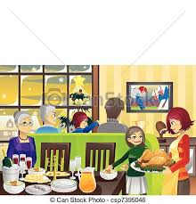 family room clipart. thanksgiving family dinner - csp7395046 room clipart