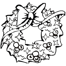 Small Picture Christmas Wreath Coloring Page Fancy Wreath