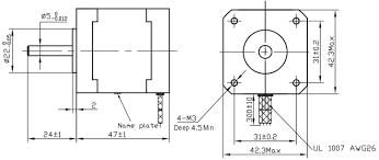 Stepper Motor Size Chart Nema 17 Stepper Motor Datasheet Wiring Specs Alternatives