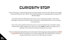 curiosity stop tnw europe special