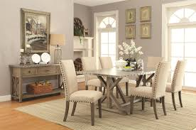 webber transitional style dining table with metal top and nailhead trim transitional style dining room r92 dining
