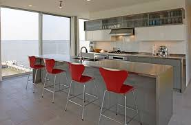 Beautiful bar stools designed by Arne Jacobsen View in gallery Enjoy a  lovely breakfast as you take in the view outside