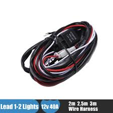 online buy whole toyota wiring harness from toyota offroad led light bar wiring harness kit 12v 40a extension wire fuse relay on off