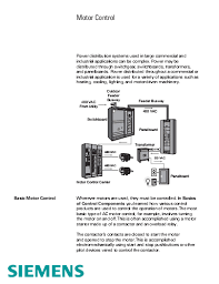 basics of motor control centers mccs eep basics of motor control centers siemens