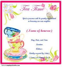 Tea Invitations Printable Great Printable Tea Party Invitations Birthday Invitation Ideas