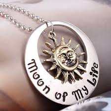 moon of my life necklace sun star