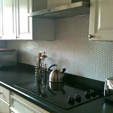 kitchens with white penny rounds backsplash | Our ModDotz porcelain penny  round tile in white color