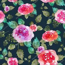 Vintage Naadloze Bloemmotief Met Roze Bloemen En Blad Afdrukken