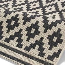 think rugs cottage ct5581 flat weave rug wool black 160 x 220 cm