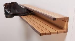 wall mounted shoe rack wood