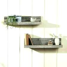 Salvaged Wood Floating Shelves Delectable Barn Wood Floating Shelves Long Reclaimed Wooden Creative Rustic