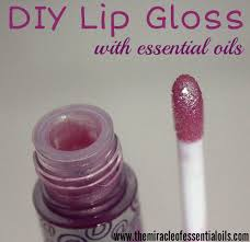 make your own diy essential oil lip gloss