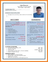 Impressive Resume Format Sop Proposal