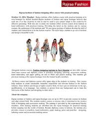Fashion Designing Short Courses In Mumbai Rajraa Institute Of Fashion Designing Offers Course With