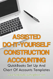 Contractor Quickbooks Set Up And Chart Of Accounts Templates