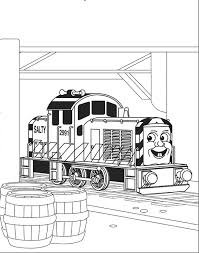 Coloring Pages Salty Train