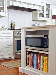 Kitchen Bookcase Microwave Oven In The Kitchen Island Over Bookcase Microwave