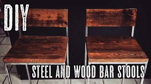 diy wood bar. DIY Steel \u0026 Wood Bar Stools Diy