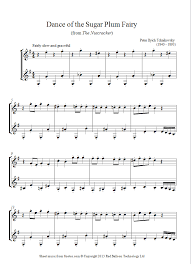 dance of the sugar plum fairy sheet music tchaikovsky dance of the sugar plum fairy from the nutcracker