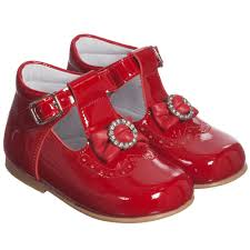 children s classics girls red patent leather shoes with bow childrensalon
