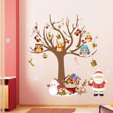 Us 566 5 Offdie Neue Familie Von Santa Eule Kinderzimmer Schlafzimmer Wandaufkleber Steuern Dekor Weihnachten Fenster Aufkleber In Wandaufkleber