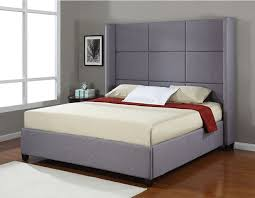 Modern king size bed frames with tall headboard Pinteres