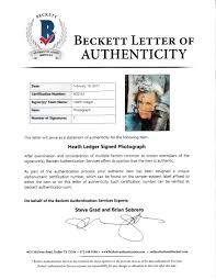 Heath Ledger Autographed A Knight S Tale 8x10 Movie Photo Beckett