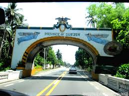 When you see the Quezon Province arch, turn left.