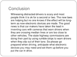 informative speech 7 conclusion witnessing distracted drivers