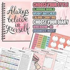 Food Diary Slimming World Useable Weight Loss Log Tracker Planner 2019 New V420 Ebay