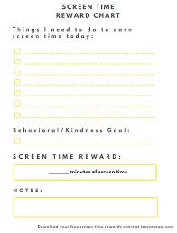 How To Do A Reward Chart Kids Screen Time Reward Chart Jen Zamzow Medium