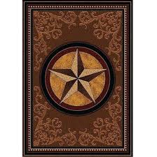 traditions star southwestern area rug black style
