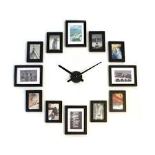 home living picture frame photo picture wood frame wall clock 12