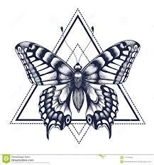 черная иллюстрация бабочки изолировала белизну вектора Tattoo