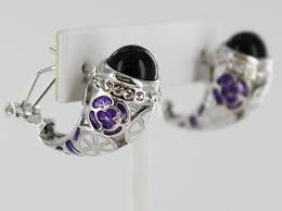 je 020441 s purple helen s heart earrings