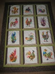 Funky Chickens Quilt Pattern FCP-013 | chicken quilts | Pinterest ... & Batiks rooster quilt Adamdwight.com