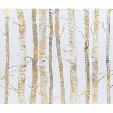 24 x 26 cream gold birch trees canvas art shop  on birch tree branch wall art with 24 x 26 cream gold birch trees canvas from hobb