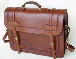 handmade bridle leather briefcase computercase image 0