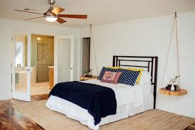 modern bedroom ceiling fans. Master Bathroom With Suspended Cedar Slabs As Nightstands Modern Bedroom Ceiling Fans F
