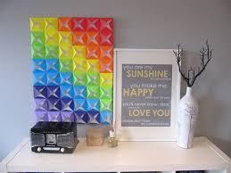 diy office art. Unique Diy DIY Origami Wall Art  Colors Of The Rainbow For Diy Office