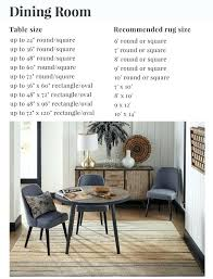 what size rug for square dining table area designs round