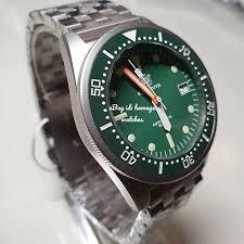 UK <b>STEELDIVE SD1979</b> GREEN 200M Squale 1521 50 Atmos ...