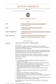 Ruby On Rails Developer Resume Samples Visualcv Resume Samples