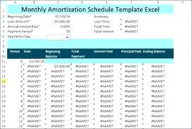 Amortization Schedule In Excel Beauteous Year Amortization Schedule Excel Printable Template Monster Login