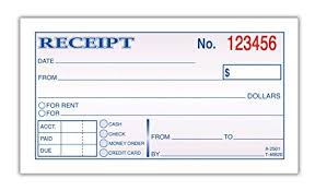 Adams Money And Rent Receipt 2 3 4 X 5 3 8 Inches 2 Parts