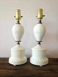 white milk glass lamp base design ideas antique hobnail lamps 3
